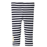 L'ovedbaby Navy and White Stripe Organic Cotton Leggings