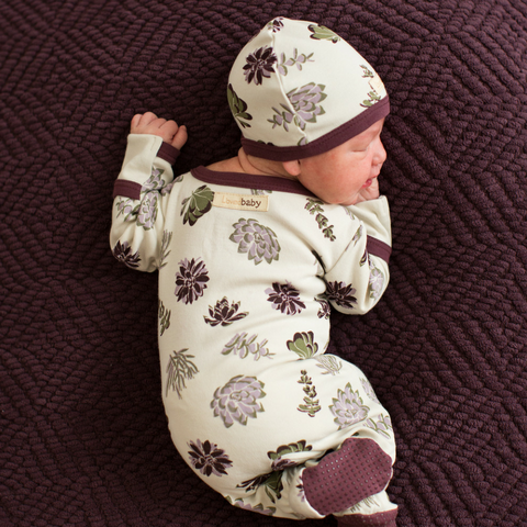 L'ovedbaby Succulents Organic Cotton Footie