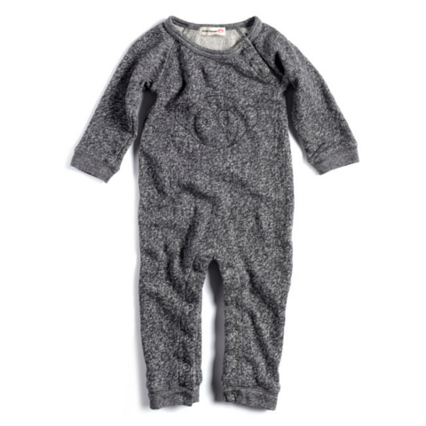 Charcoal Heather Raglan Romper
