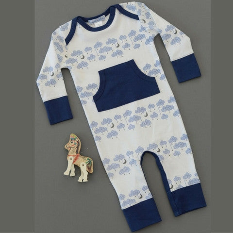 Cloud Long Sleeve Kangaroo Romper