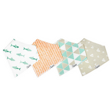 Copper Pearl Pacific Baby Bandana Bibs - 4 Pack Cotton Front Fleece Back