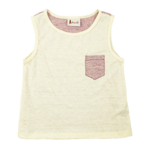 Berry Sleevless Pocket T-Shirt