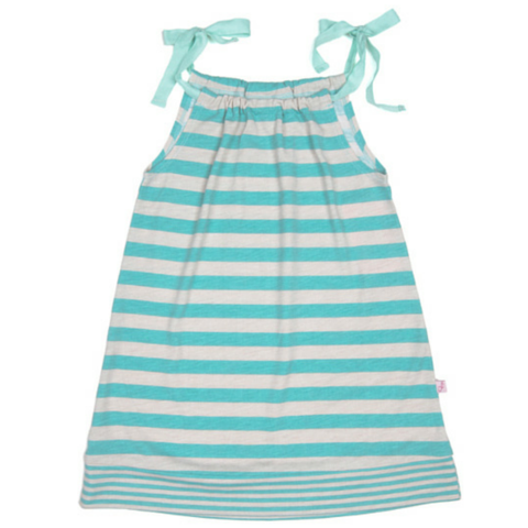 Slate Jersey Stripe Dress