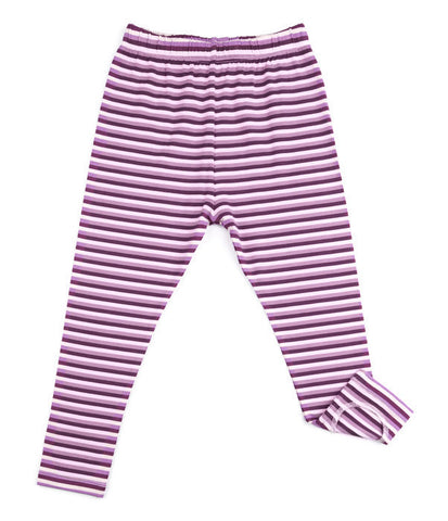 Sweet Bamboo Cranberry Girls Loop Leggings