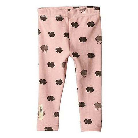 L'ovedbaby Mauve Cloud Organic Cotton Leggings for baby girl