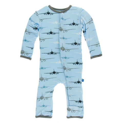 f9d1ccc13 Kickee Pants Boys Pond Airplane Snap Coverall – My Little Peach