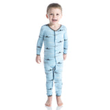Kickee Pants Pond Airplane Super Soft Bamboo Snap Coverall