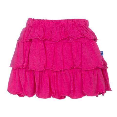 Kickee Pants Prickly Pear Solid Layered Ruffle Bamboo Skirt