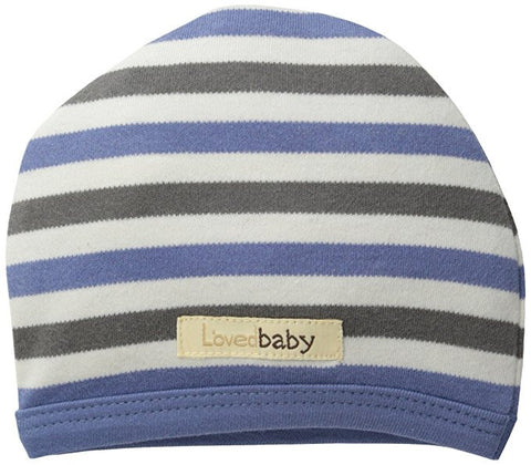 L'ovedbaby Slate Stripe Organic Cotton Cute Cap