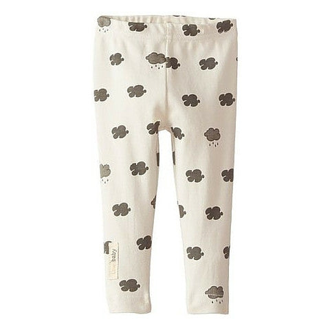 L'ovedbaby Stone Cloud Organic Cotton Leggings for baby girl or boy