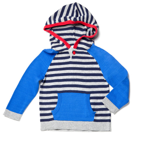 Egg by Susan Lazar Blue Striped Knit Hoodie