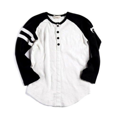 White Baseball Henley