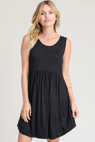 Black Sleeveless Babydoll Dress
