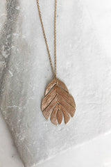 Abstract Leaf Necklace