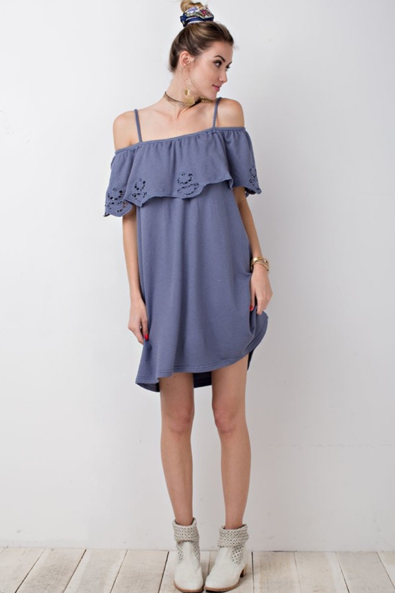 Soft French Terry Laser Cut Dress