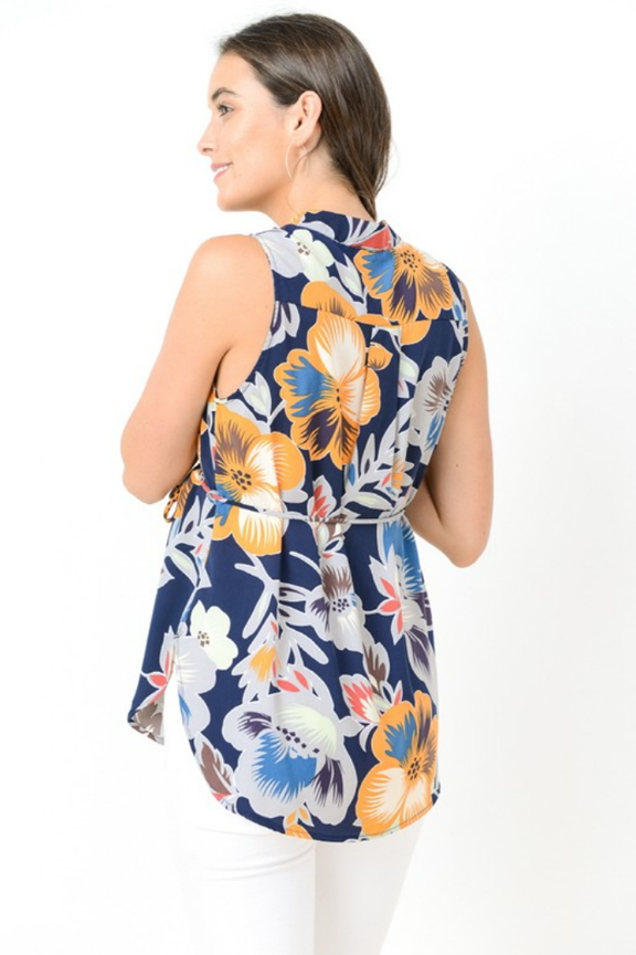 Sleeveless Floral Maternity Tunic Top