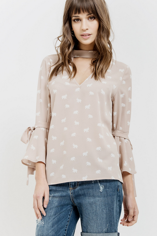 Mini Elephant Print Top
