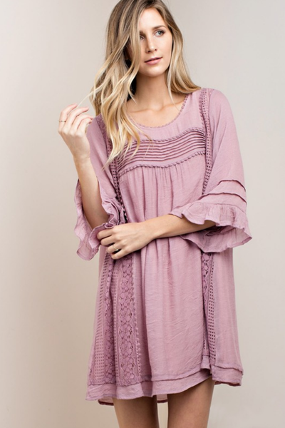 Pleats Mix Boho Dress
