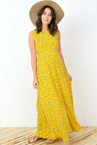 Sunshine Maternity Maxi Dress