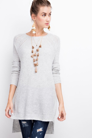 Heather Gray Pullover Sweater