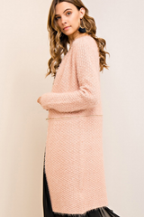 Blush Convertible Fuzzy Coat - 2 Ways to Wear