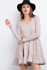 Soft Ruffled Pullover Dress