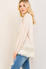 Sand Crochet Tunic Top