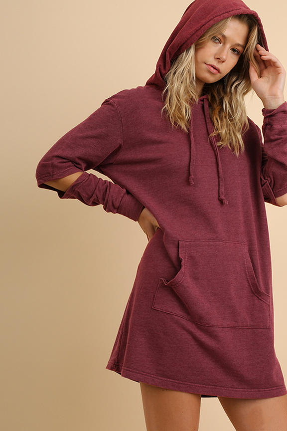 Washed Hoodie Dress