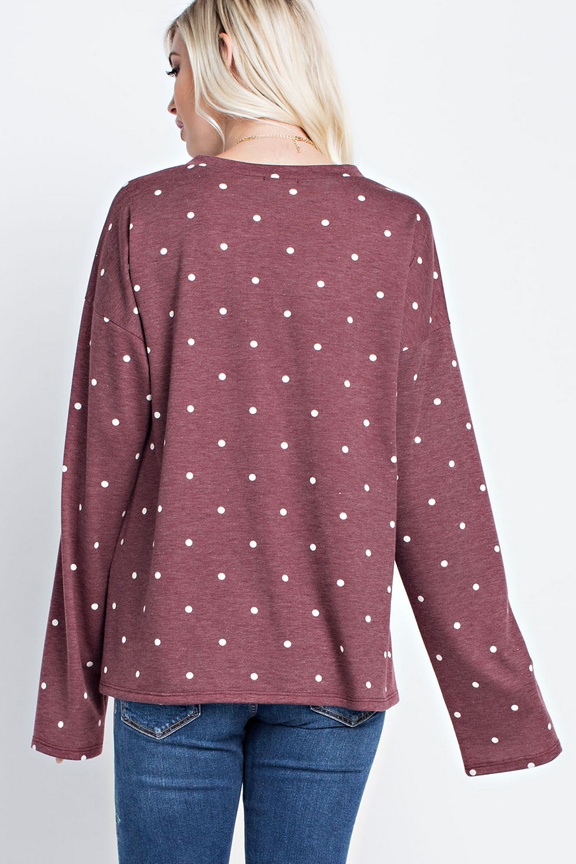 Polka Dot French Terry Top
