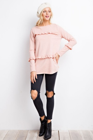 Mini Ruffled Knit Tunic