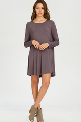 Soft Ash Gray Swing Dress