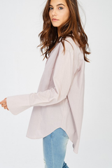 Cotton Split Neck Mauve Blouse