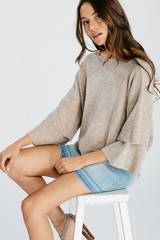 Tiered Ruffle Sleeve Spring Sweater Top