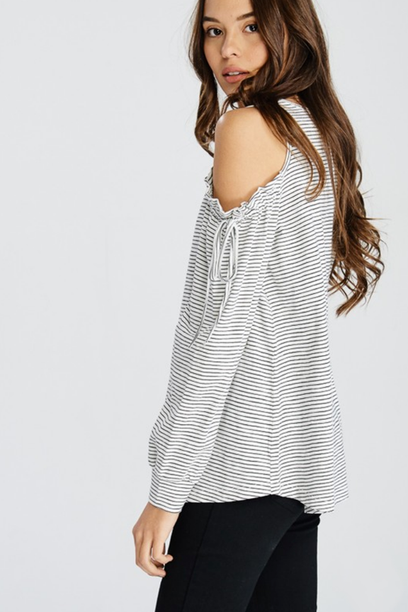 209973b0b698d Striped Cold Shoulder Tie Sleeve Top - 2 Colors – Thistle   Finn