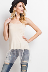 Sheer Dot Tunic Tank
