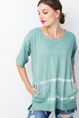 Pocketed Rain Storm Dyed Top - 2 Colors
