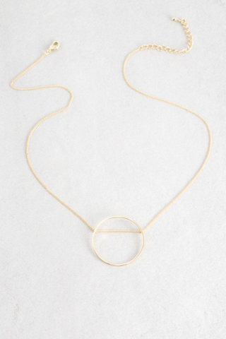 Threaded Circle Pendant Necklace
