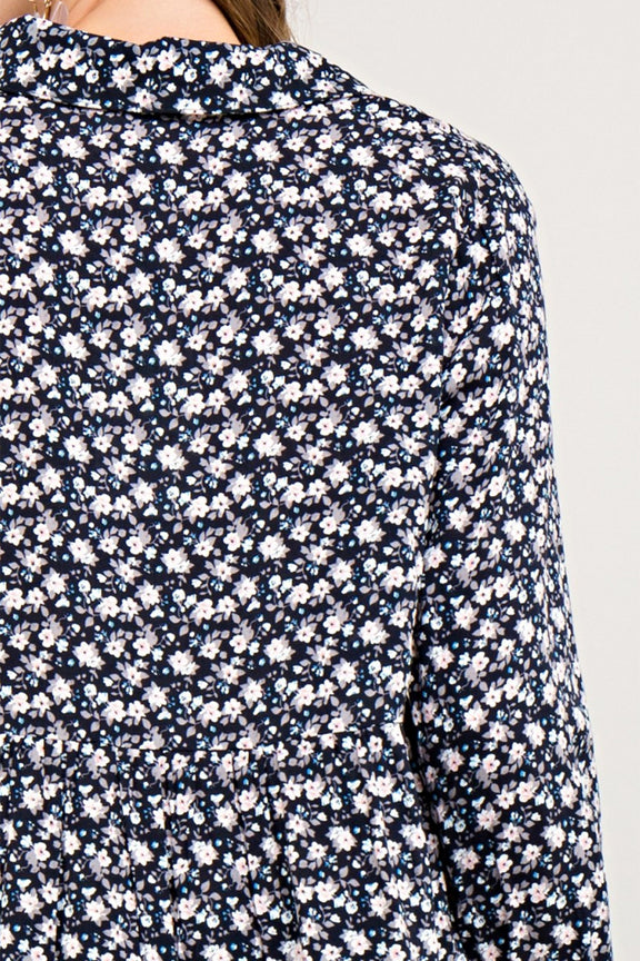 Floral Print Button Down