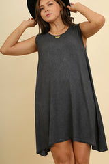 Ash Gray Mineral Washed Dress