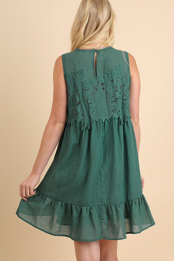 Embroidered Yoke Boho Dress