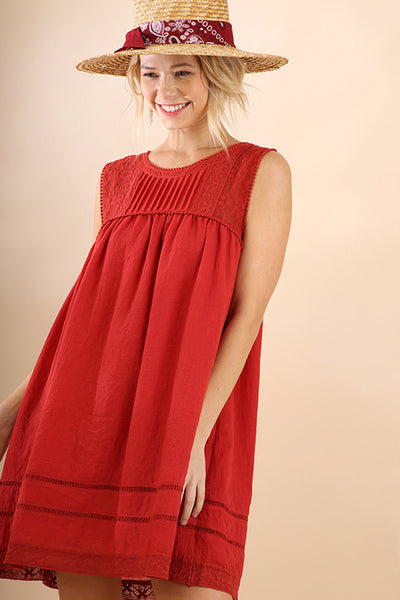 Lace Trim Scarlett Shift Dress