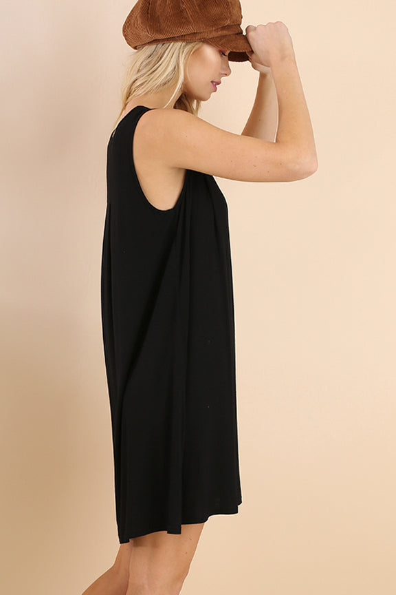 Soft A-line Black Dress