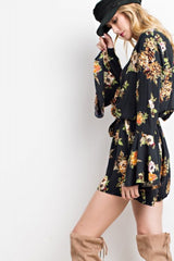 Vintage Inspired Bell Sleeved Romper
