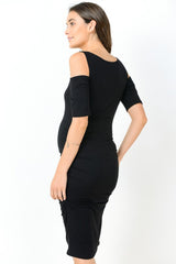 Open Cold Shoulder Maternity Dress
