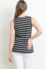 Ribbed Maternity Nursing Tank Top