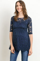 Floral Lace Maternity Top
