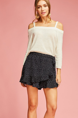 Polka Dot Wrap Shorts - 2 Colors