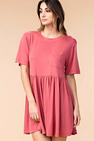 Soft Baby Doll T-Shirt Dress