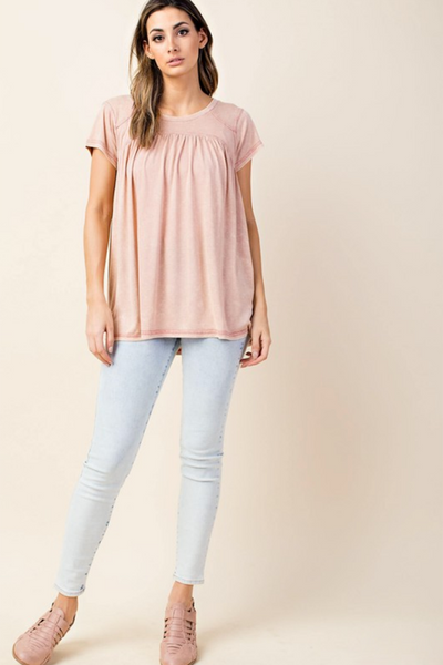 Color Stitched Washed Top