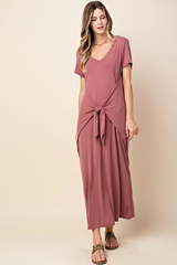 Tied Detail Cupro Maxi Dress